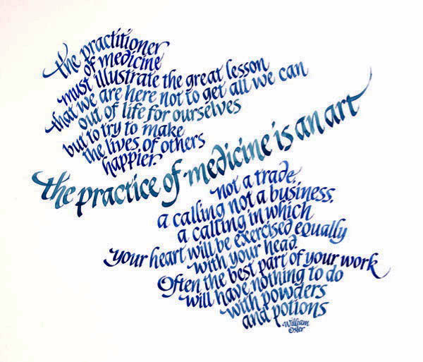 Calligraphy by Elaine Adler